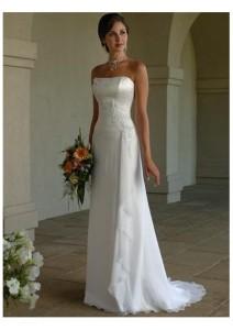 Column Wedding Dresses