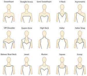 Neckline for Wedding Dresses